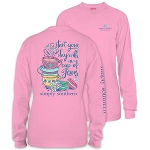 Simply Southern macaroon & tea long sleeve